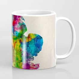 England Map in Watercolor Coffee Mug