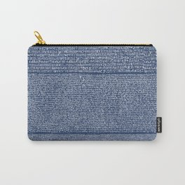 The Rosetta Stone // Navy Blue Carry-All Pouch