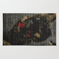 puppy Area & Throw Rugs featuring puppy by Ezgi Kaya