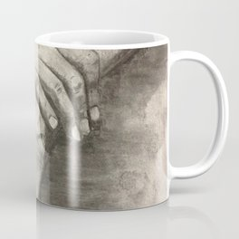 Charcoal Hands - human anatomy Coffee Mug