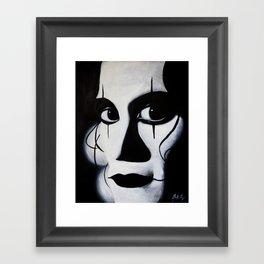 THE CROW CLOSE-UP Framed Art Print