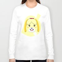 animal crossing Long Sleeve T-shirts featuring Animal Crossing Isabelle by ZiggyPasta