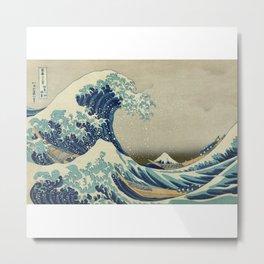 Ukiyo-e, Under the Wave off Kanagawa, Katsushika Hokusai Metal Print