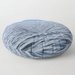 Mediterranean Blues At Sea Floor Pillow