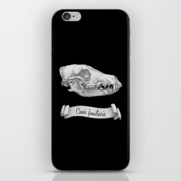 Dog Skull in Ink iPhone Skin