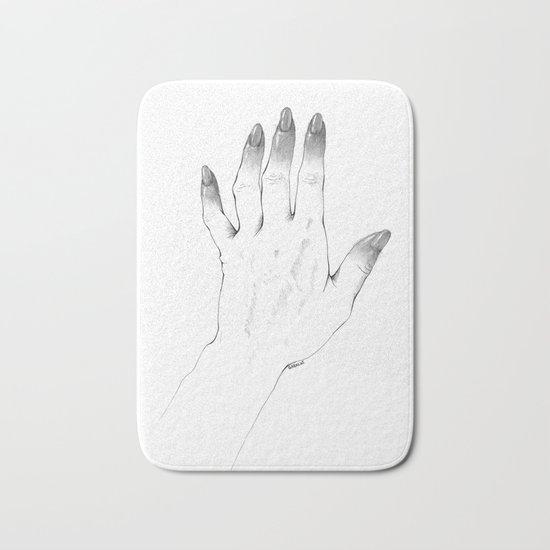 Gray Nails Bath Mat