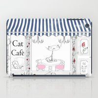 cafe iPad Cases featuring Cat Cafe by ArtRonin