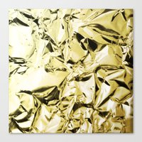 gold foil Canvas Prints featuring Gold foil by lamottedesign