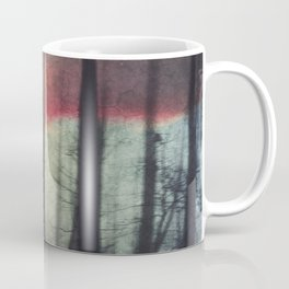 Blurred Vision - Forest and birds at sunrise Coffee Mug