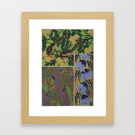 vintage art deco pattern Framed Art Print