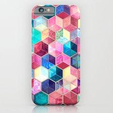 Topaz & Ruby Crystal Honeycomb Cubes iPhone 6 Slim Case