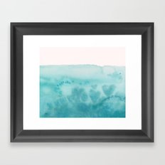 Waves of Love Aqua Framed Art Print