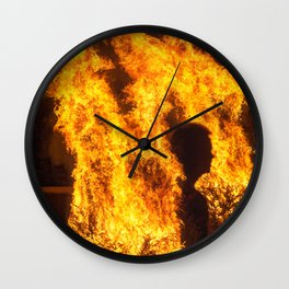 Man In The Fire Wall Clock