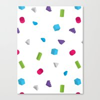 confetti Canvas Prints featuring Confetti by Eric Zelinski