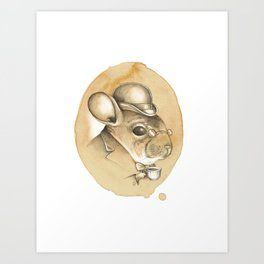 Gentleman Chinchilla Art Print