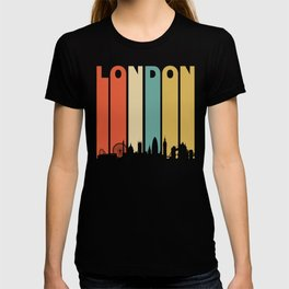 Retro 1970's London England Cityscape Downtown Skyline T-shirt