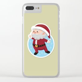 SAnta icon Clear iPhone Case