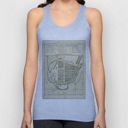 Vintage Map of Lower Manhattan (1764) Unisex Tank Top