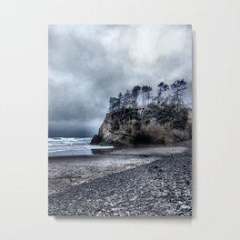 Lonely Beach II Metal Print