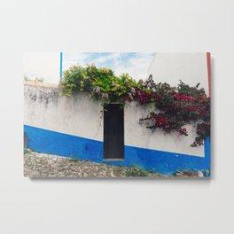 Doorways in Óbidos, Portugal Metal Print
