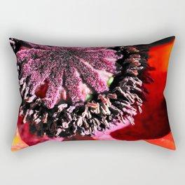 Poppy Close Up Rectangular Pillow