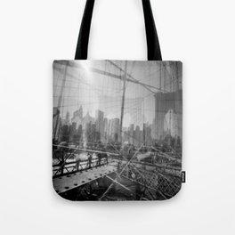 Brooklyn Bridge 3x Tote Bag