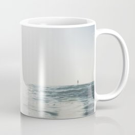 vintage style seascape with Paddle surfer, Coffee Mug