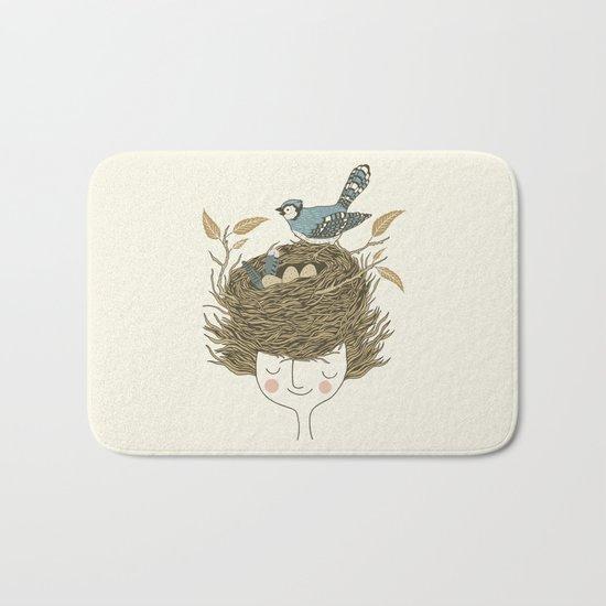 Bird Hair Day Bath Mat