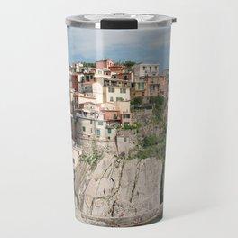 Italian Coastline View / Manrola, Italy in Cinque Terre Travel Mug