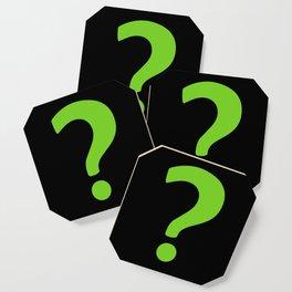 Enigma - green question mark Coaster