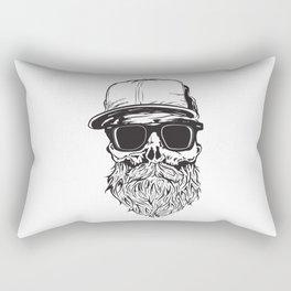 skull with beard Rectangular Pillow