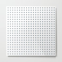 Grey and white polka dot Metal Print