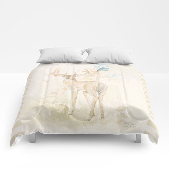 Deer and butterfly Comforters