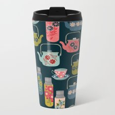 Vintage Thermos - Teacups and Teapots by Andrea Lauren Metal Travel Mug