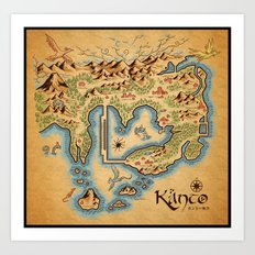 Kanto Map Art Print