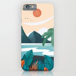 Hawaii travel poster iPhone Case