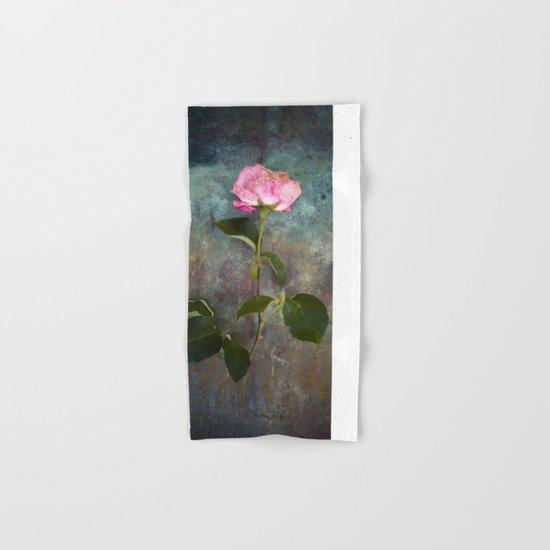 Single Wilted Rose Hand & Bath Towel