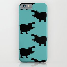 Angry Animals - Hippo iPhone Case
