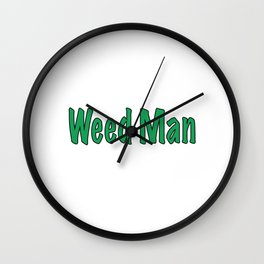 Weed Man Wall Clock