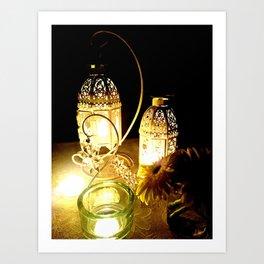 Candlelight dinner Art Print