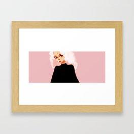 Black Pink Framed Art Print