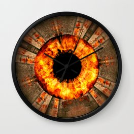 JUMP INTO THE FIRE Wall Clock