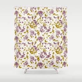 day lilies retro Shower Curtain