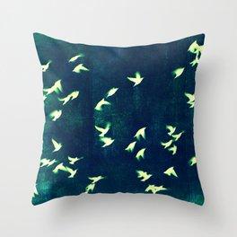 Retro Birds Throw Pillow