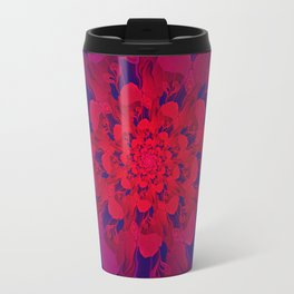 Abstract Colorful Flower with Hearts | Valentine's Day - 14 February Travel Mug