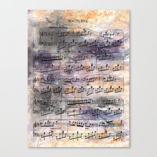Chopin - Nocturne Canvas Print