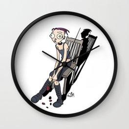 Chair of sadness germ Wall Clock