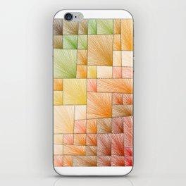 Autumn Squares iPhone Skin