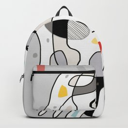 Bathing Girl - Abstract Modern Painting Backpack