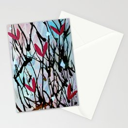 Blown Ink Painting Collage Stationery Cards